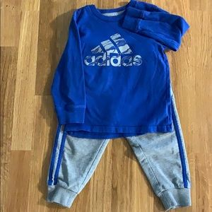 Toddler Adidas Sweatpants Set